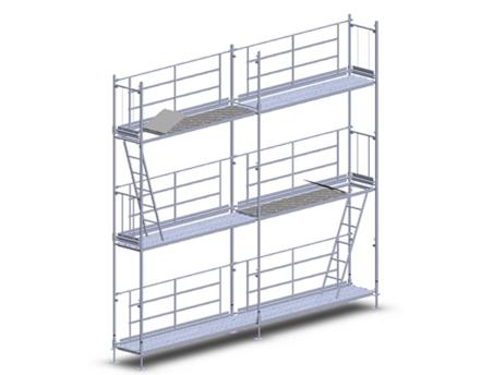 Andamio modular europeo alquiler de maquinaria for Alquiler de andamios madrid